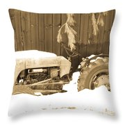 Rip Old Oliver Tractor Throw Pillow