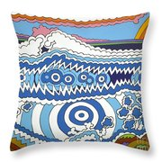 Rip Tide Throw Pillow by Rojax Art