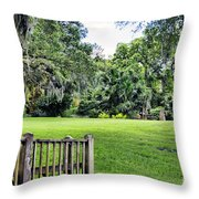 Rip Van Winkle Gardens Louisiana  Throw Pillow