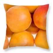 Ripe Apricots  Throw Pillow