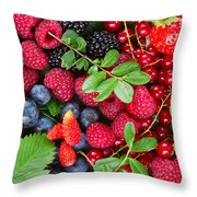 Ripe Of  Fresh Berries Throw Pillow