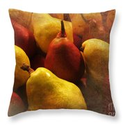 Ripe Pears And Two Persimmons Throw Pillow