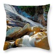 Ripley Falls Cascading Light Throw Pillow by Shell Ette