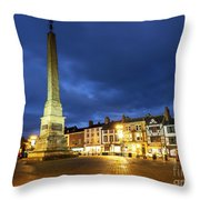 Ripon Market Place At Dusk Throw Pillow