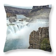 Ripping Shoshone Falls Throw Pillow