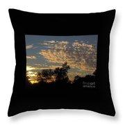 Ripple Clouds At Sunset Throw Pillow