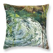 Ripple Pond Throw Pillow