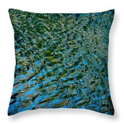 Ripple Reflections Throw Pillow