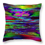 Ripple Sunset Throw Pillow