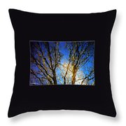 Ripple Tree Throw Pillow