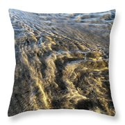 Rippled Gold Throw Pillow