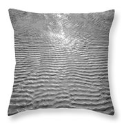 Rippled Light Throw Pillow