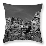 Rippled Walls B-w Throw Pillow