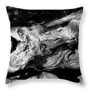 Rippled Wood Throw Pillow