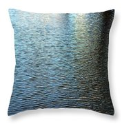 Ripples And Reflections Abstract Throw Pillow