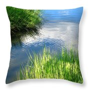 Clear And Gentle Flow Throw Pillow