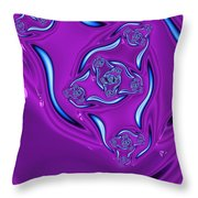 Ripples In A Purple Pond Throw Pillow