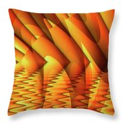Ripples In Gold Throw Pillow