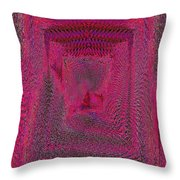 Ripples In Red Throw Pillow