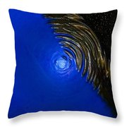 Ripples Of Time And Space Throw Pillow