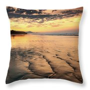 Ripples On The Coast Throw Pillow