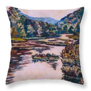 Ripples On The Little River Throw Pillow