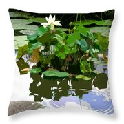 Ripples On The Lotus Pond Throw Pillow