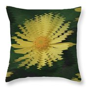 Rippling Daisies  Throw Pillow