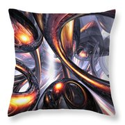 Rippling Fantasy Abstract Throw Pillow