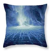 Rippling Waterfall Throw Pillow