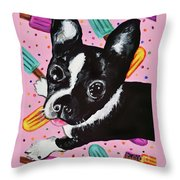 Popsicle Pup Throw Pillow