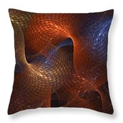 Rips In The Fabric Of Time Throw Pillow