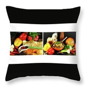 Rise And Pilaf - Collage Throw Pillow