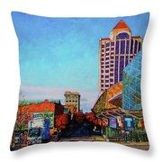 Rise And Shine - Roanoke Virginia Morning Throw Pillow