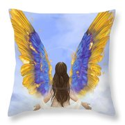 Rise Throw Pillow by Brandy Woods