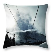 Rise To The Sun Throw Pillow by Michael Cuozzo