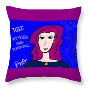 Rise To Your Own Potential Throw Pillow