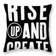Rise Up And Create- Art By Linda Woods Throw Pillow
