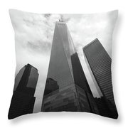 Risen Out Of The Rubble Throw Pillow