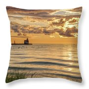 Risin' And Shinin' Throw Pillow