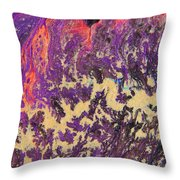 Rising Energy Abstract Painting Throw Pillow