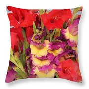 Rising Flowers Throw Pillow