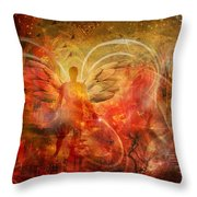 Rising From The Ashes Throw Pillow