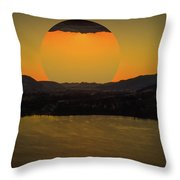 Rising On Kal Throw Pillow by Rod Sterling
