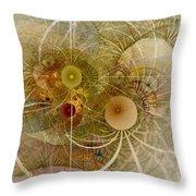 Rising Spring - Fractal Art Throw Pillow