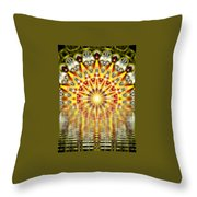Rising Sun Mandala Throw Pillow