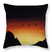Rising With The Dawn Throw Pillow