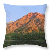 Rising Wolf Mountain At Dawn Throw Pillow