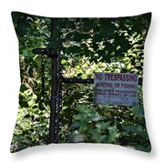 Risks Throw Pillow