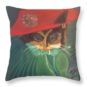 Rita Cat Throw Pillow